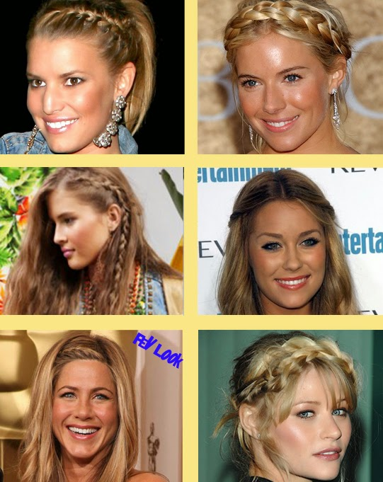 Cute easy braided bang hairstyles