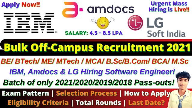 LG Soft India Mega Off Campus Drive 2021