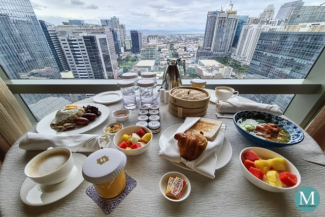 in-room breakfast at Shangri-La at the Fort, Manila