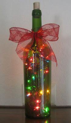 Decoração de Natal sem gastar muito: garrafas decoradas