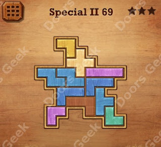 Cheats, Solutions, Walkthrough for Wood Block Puzzle Special II Level 69