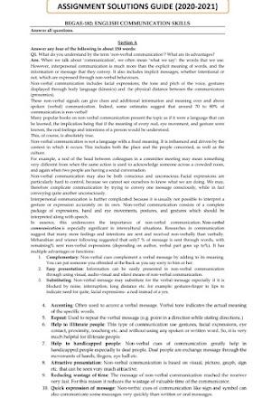 IGNOU BEGAE-182 l Solved Assignments 20-21-English Medium