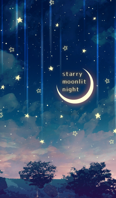 - starry moonlit night -