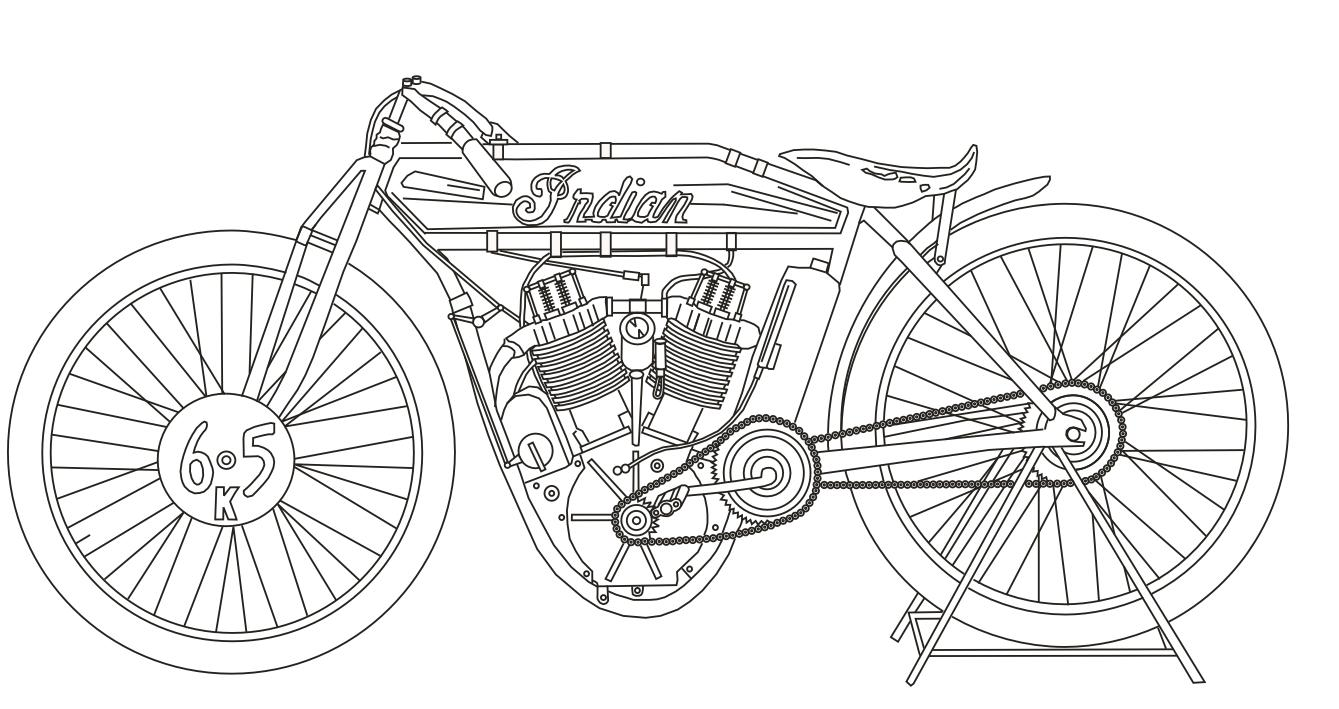 The Tinkers Workshop: 1912 Indian Motorcycle Photo To
