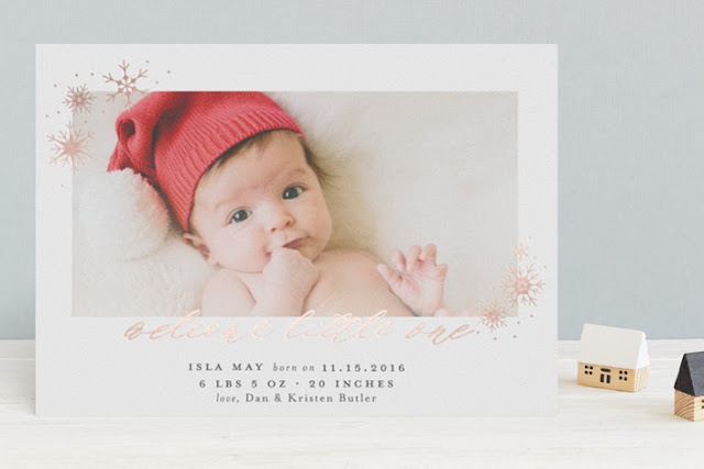 winter birth announcements