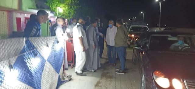 جولة ليلية لمحافظ القليوبيه لمتابعة المشروعات بمدينة بنها