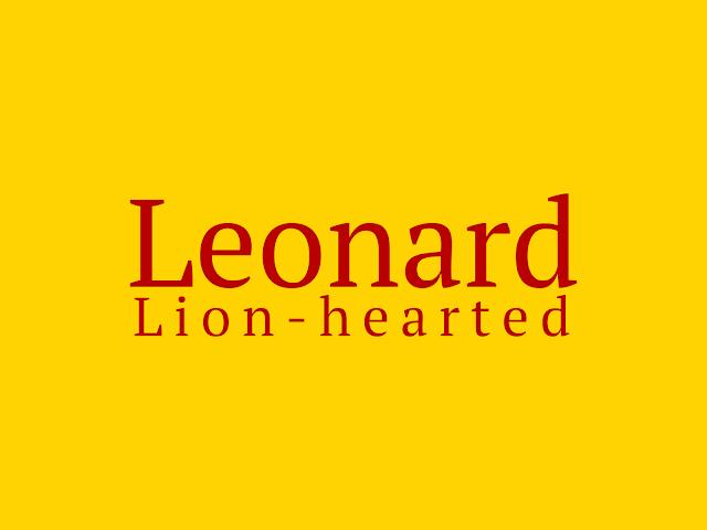 Leonard - the lion-hearted