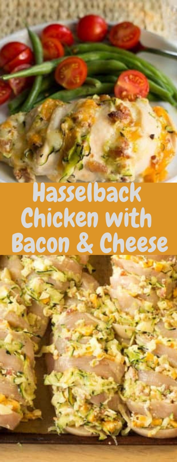 Hasselback Chicken with Bacon & Cheese