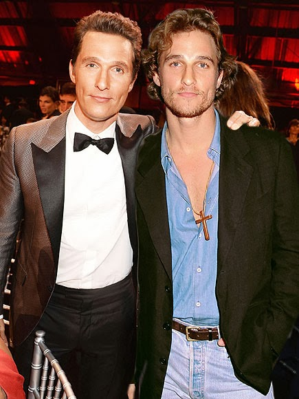 Matthew McConaughey in 2014 (left) and in 1996