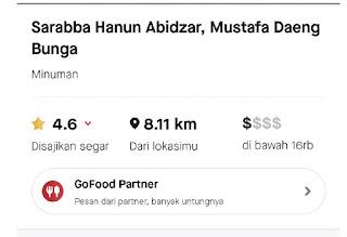 Sarabba Hanun Abidzar bermitera dengan daftar gofood