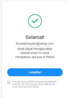 Cara membuat Email Yahoo Di PC Lengkap Dengan Gambar