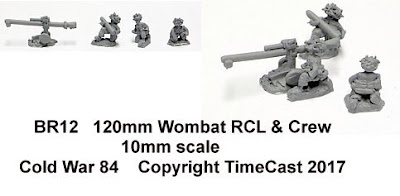 BR12 120mm Wombat Recoilless Rifle & Crew