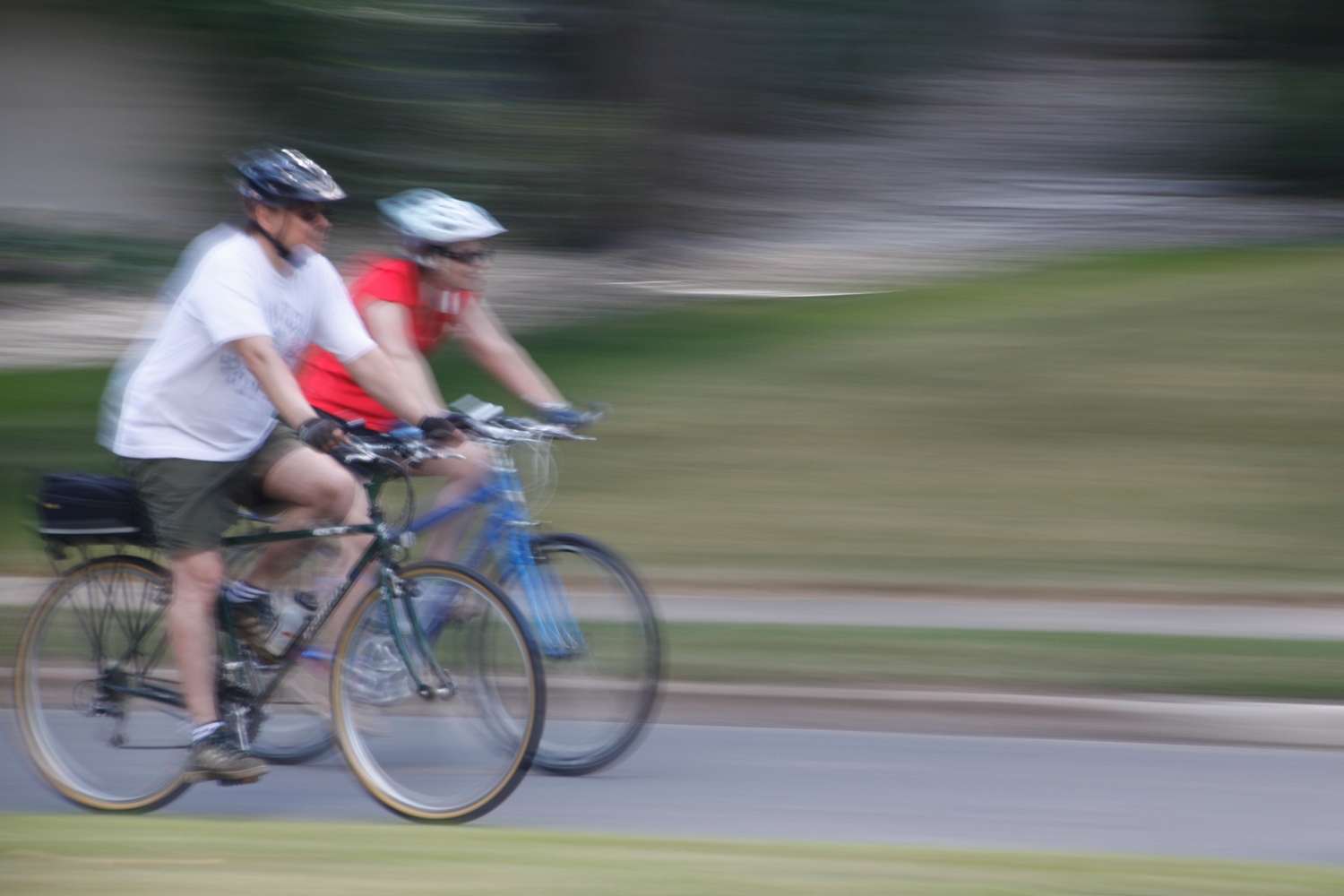 Panning Photography of Cyclists Biking
