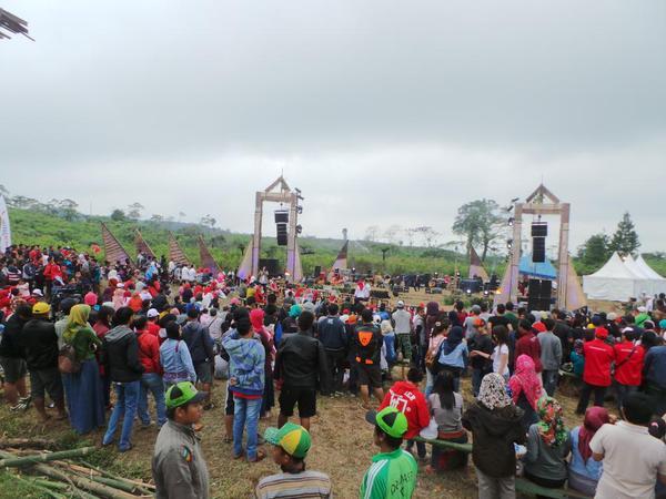 Penonton Jazz Ijen Banyuwangi 2015.