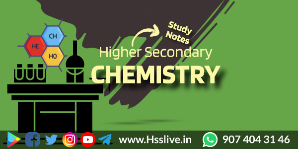Higher Secondary Plus One/Plus Two Chemistry Notes