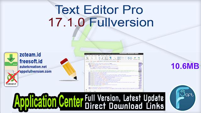 Text Editor Pro 17.1.0 Fullversion