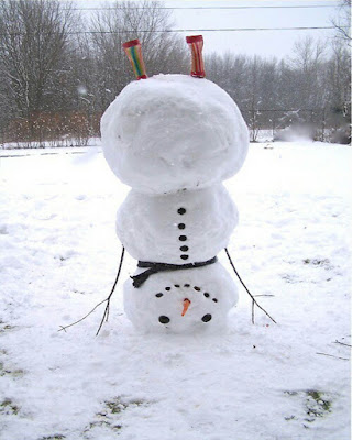 muñeco de nieve boca abajo