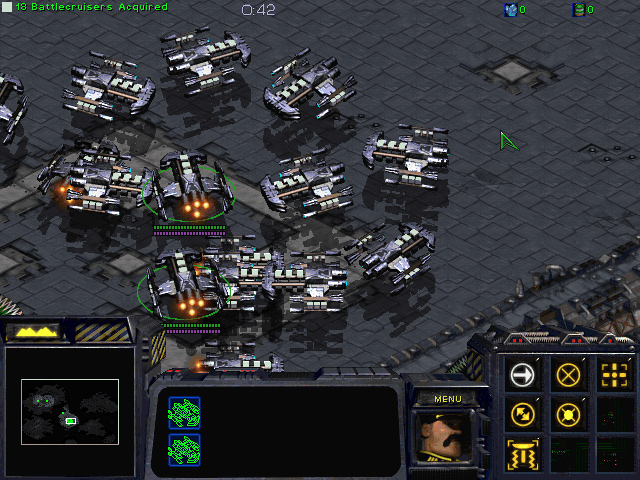 StarCraft: Brood War Mission 2: The Dylarian Shipyards.