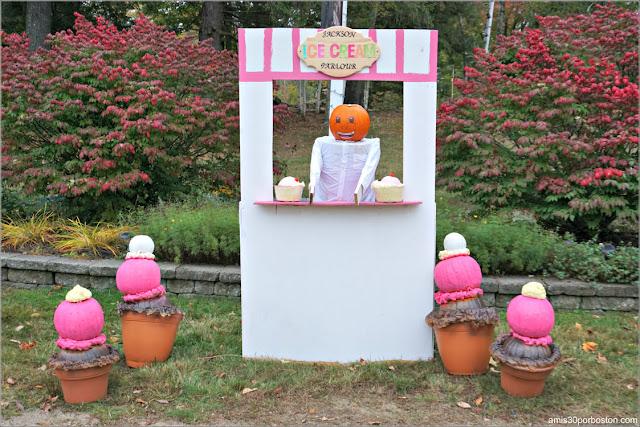 Heladería en el Return of the Pumpkin People de Jackson en New Hampshire