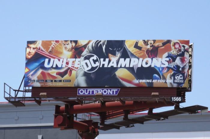 United Champions DC Universe billboard
