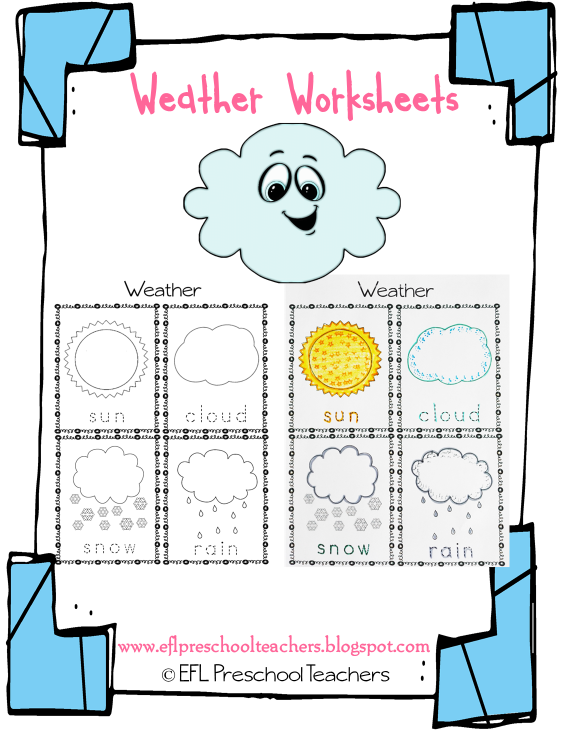 Preschool Weather Math Worksheets