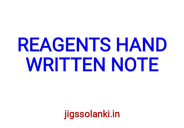 REAGENTS BEST HAND WRITTEN NOTE