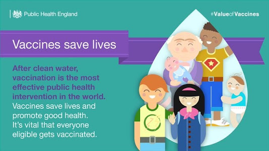 UK vaccinations save lives image of smiling children