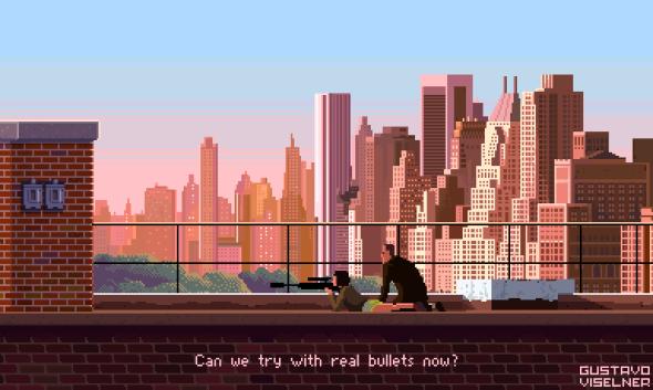 Gustavo Viselner ilustrações pixel art filmes tv referências O Profissional