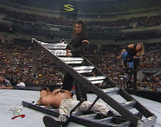 WWE / WWF Summerslam 2000 - The Hardyz battled Edge, Christian and The Dudleyz in the first TLC match