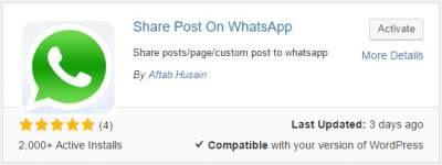 plugin untuk memasang tombol share whatsapp di wordpress