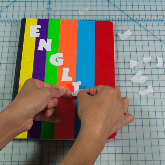 Decorate the Notebook with Duct Tape