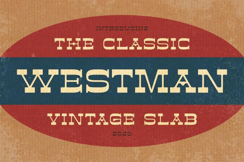Westman Font - Free Western Slab Serif Typeface