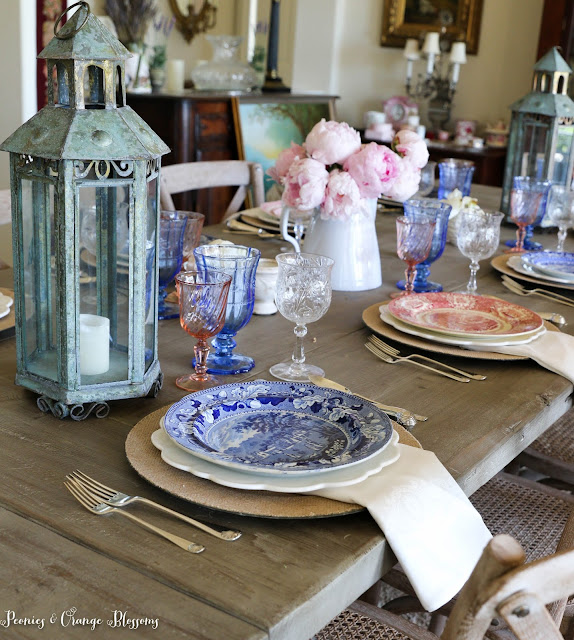 Farmhouse Patriotic Table Setting
