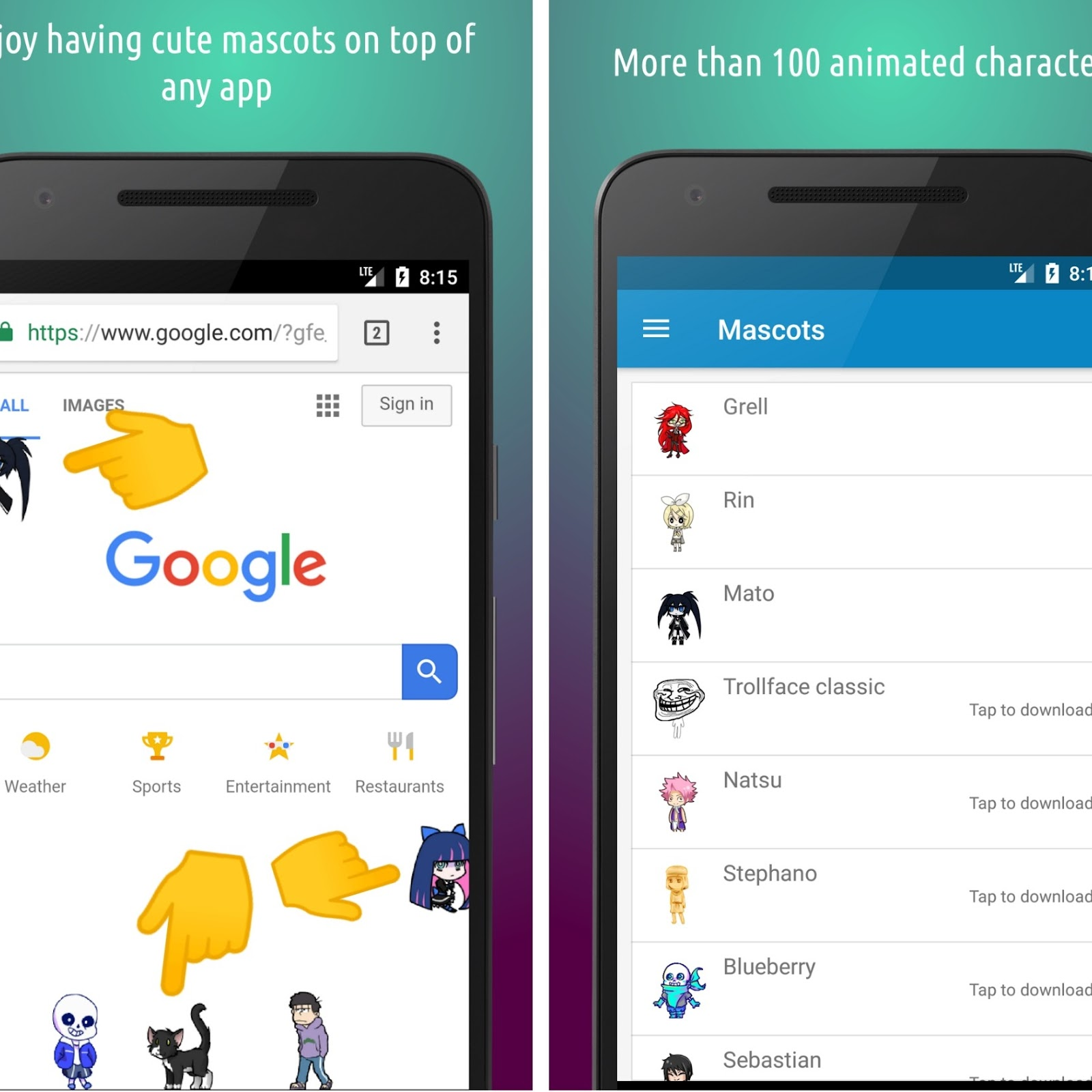 Add Little Cute Animated Character On Your Android Phone