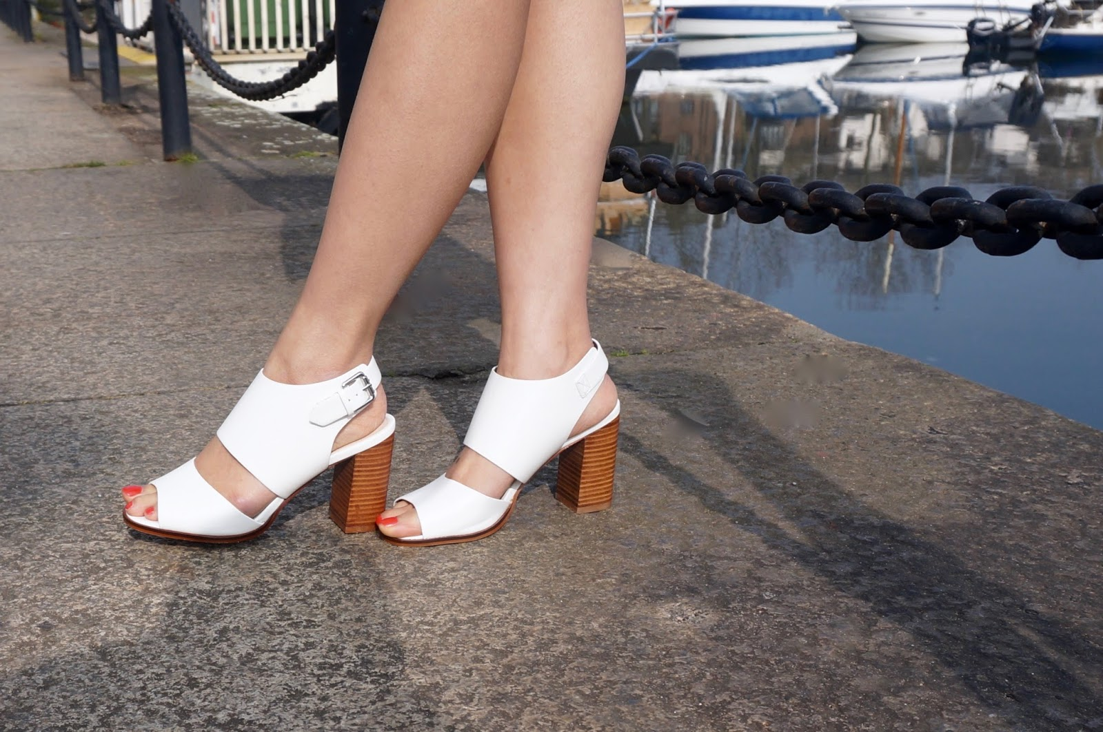 Riviera Chic white sandals