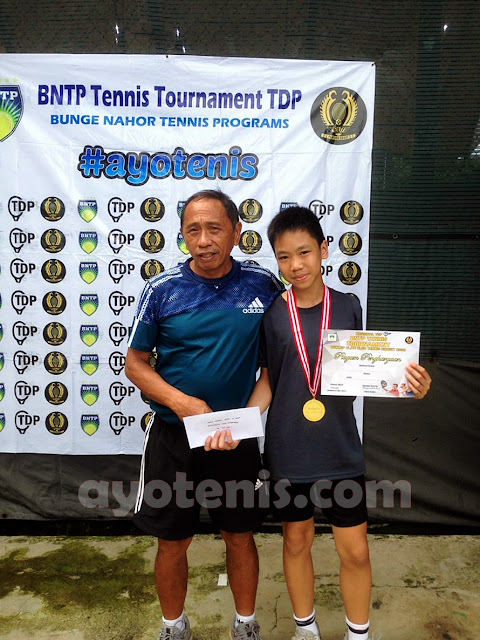 Levi Hidajat Juara BNTP Tennis Tournament  Dunlop Elite Club Tennis Circuit Seri 1