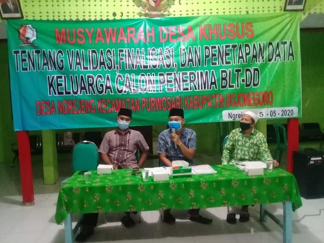 Pemdes Ngrejeng Musyawarah Desa Khusus Calon Penerima BLT-DD