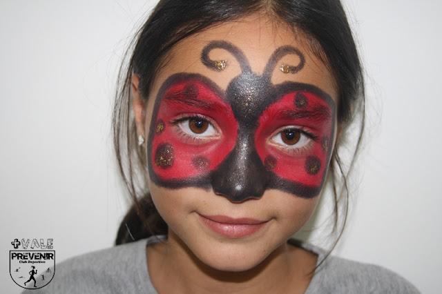maquillaje mariquita niña fantasia creativo