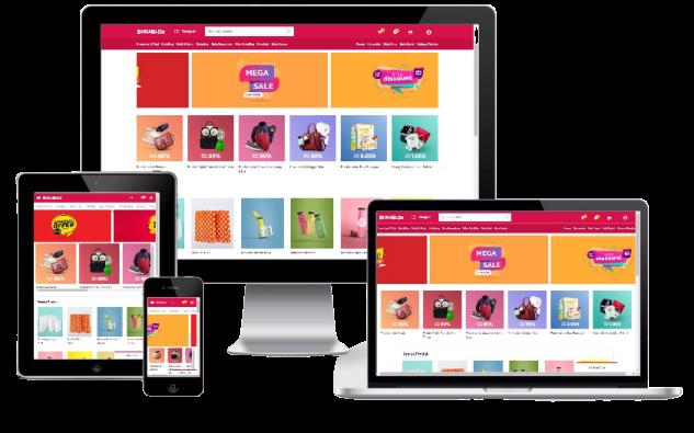 Template Blogger Online Shop Responsive Mirip Bukalapak