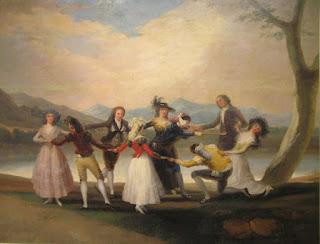 La gallinita ciega de Goya. Museo del Prado, Madrid.