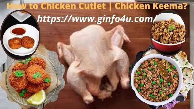 How to Make Chicken Cutlet Recipe | Chicken Keema Recipe?