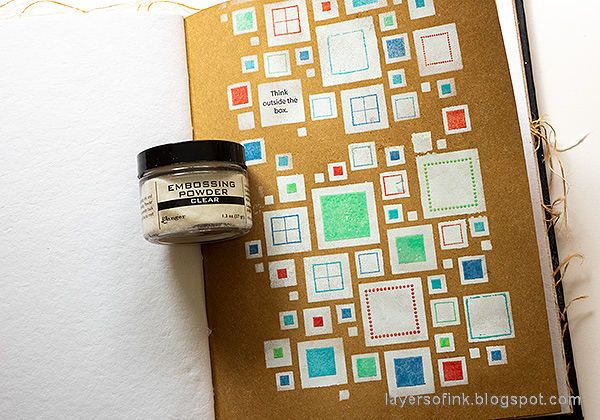 Layers of ink - Shadow Stenciling and Stamping Tutorial by Anna-Karin Evaldsson. Heat emboss.
