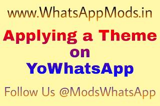 Applying a Theme on YoWhatsApp