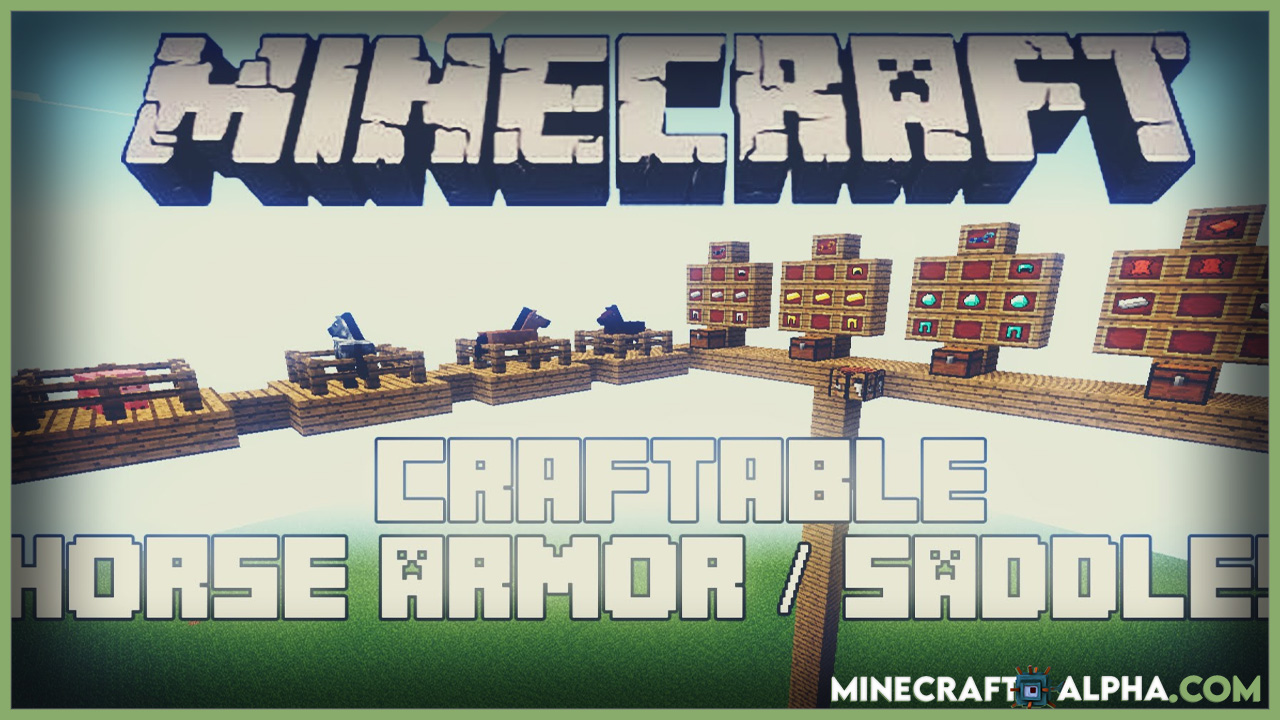 Minecraft Craftable Horse Armour and Saddle Mod 1.17.1