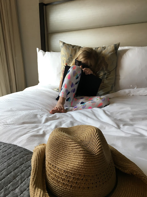 Little girl on vacation at the JW Marriott Houston Downtown
