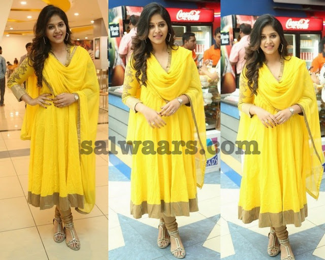 Anjali Yellow Churidar