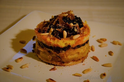 Pancarrè, radicchio, finocchi, prosciutto croccante, pinoli tostati
