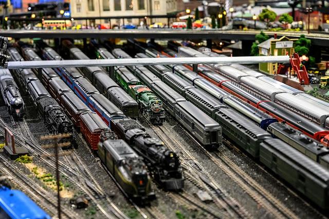 Rail yard at Corner Field Railroad Museum