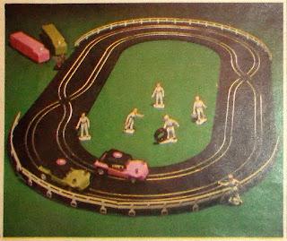 1974; Beach Buggy Racers; Britains; Britains Mechanics; Civilian Toy Figures; Eldon; Fabulous 2-Lane Road Racing Set; Garage Mechanics; Home Paraphernalia; Home Paraphernalia Ltd.; Hong Kong Novelty; Made in Hong Kong; Mail Away; Mail Order; Petrol Station; Racing Game; Racing Mechanics; Service Station Personnel; Slot Racing; Small Scale World; smallscaleworld.blogspot.com;