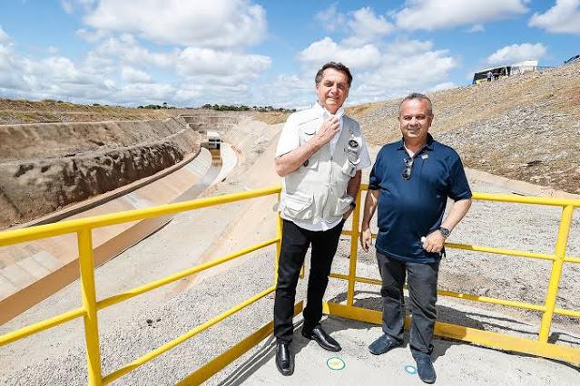 Ministro do Desenvolvimento Regional, Rogério Marinho, diz que águas do Rio São Francisco chegarão ao RN até dezembro de 2021